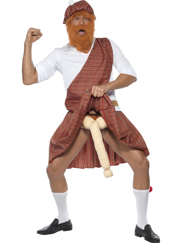 Pánské kostýmy - Kostým Well hung highlander