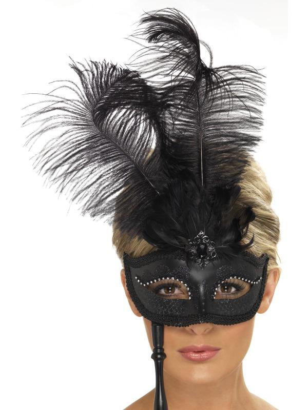 Masky - Škraboška Baroko černá
