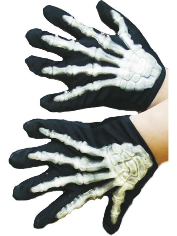 Halloween - Dětské rukavice kostlivec vystupující kosti