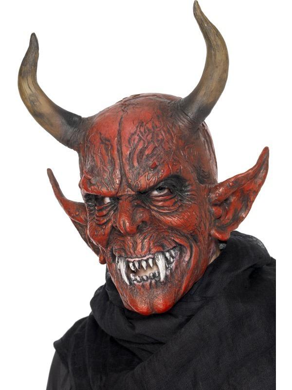 Mikuláš - Čert - Anděl - Maska Čert s velkými rohy