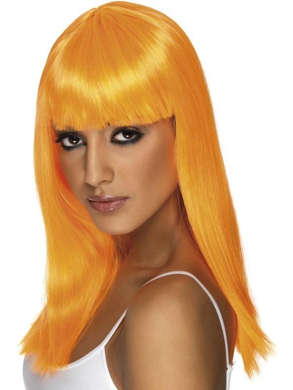 Paruky - Paruka Glamourama neonově oranžová