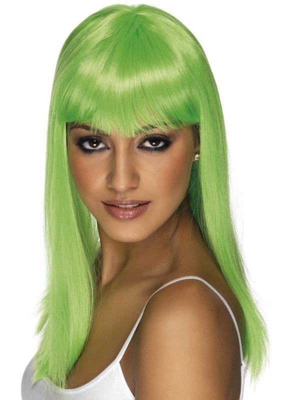Paruky - Paruka Glamourama neonově zelená