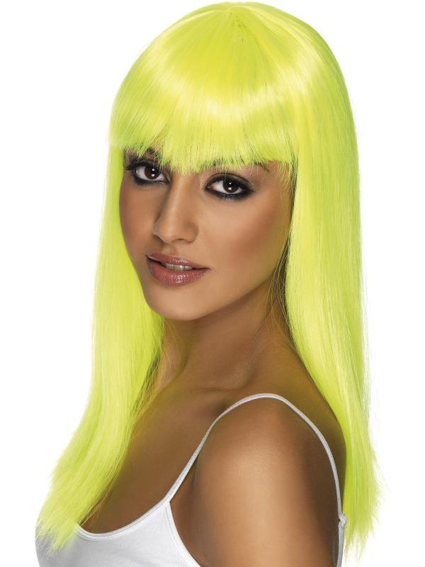 Paruky - Paruka Glamourama neonově žlutá