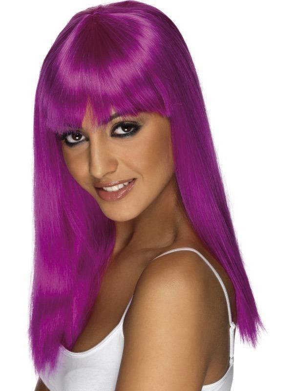Paruky - Paruka Glamourama neonově fialová