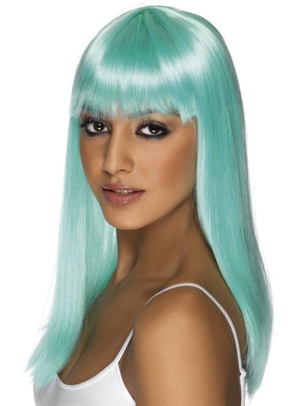 Paruky - Paruka Glamourama neonově modrá