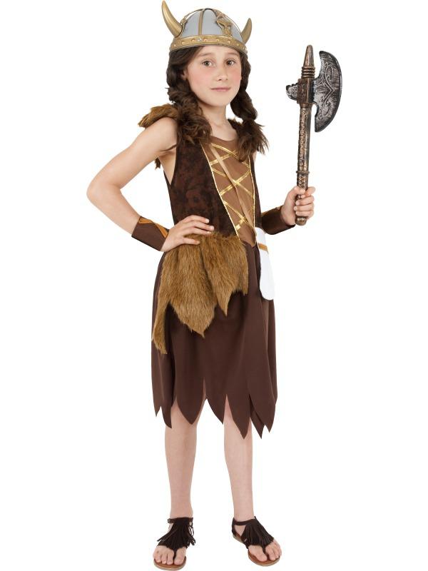 Dětské karnevalové kostýmy - Dětský kostým Vikingská dívka III