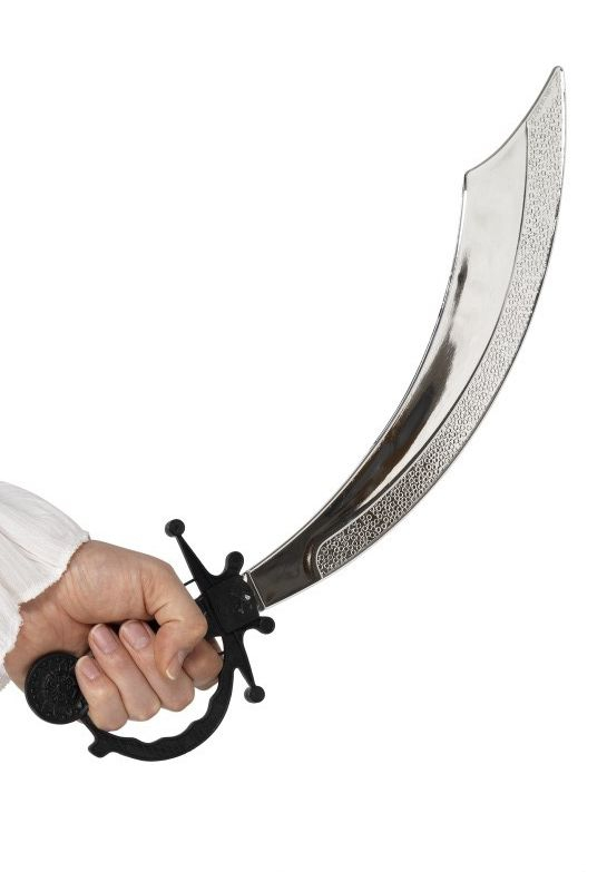 Piráti - Pirátská šavle černá rukojeť 50 cm