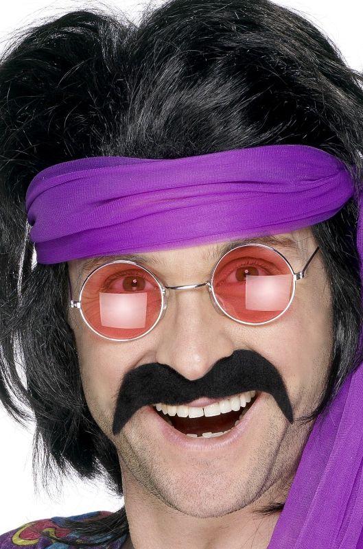 Hippie - Knír hippies černý