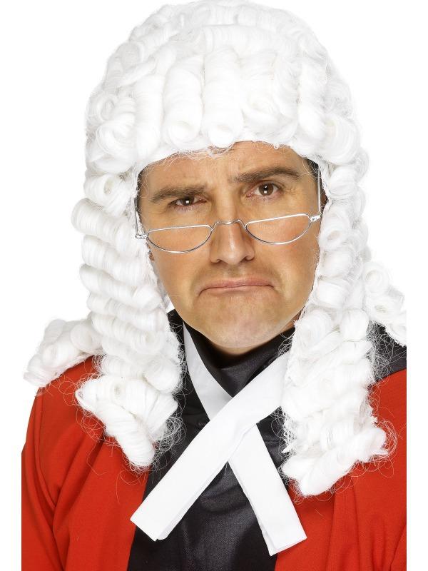 Paruky - Paruka Soudce Bílá