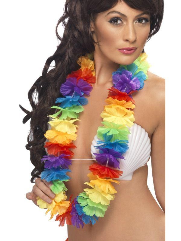 Havajská párty - Luxusní profi havajský květinový věnec