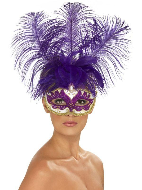 Masky - Škraboška Purple Can Can