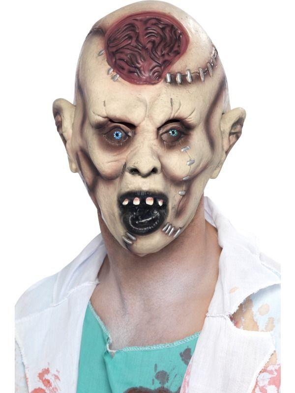 Halloween - Maska Zombie s mozkem