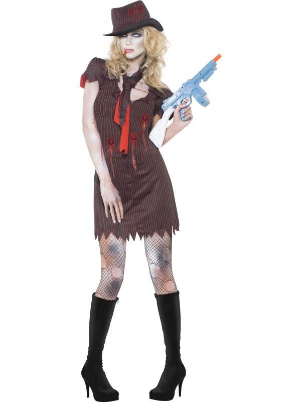 Halloween - Kostým Zombie gangsterka