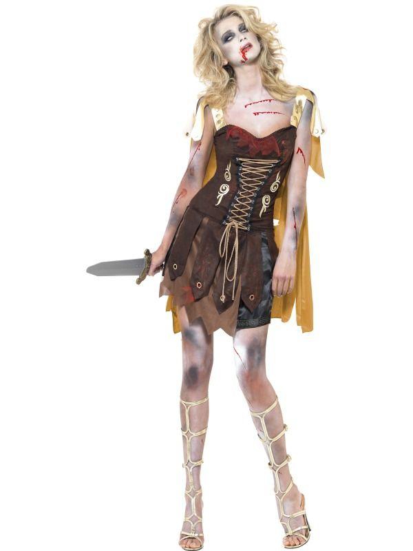 Halloween - Kostým Zombie gladiátorka