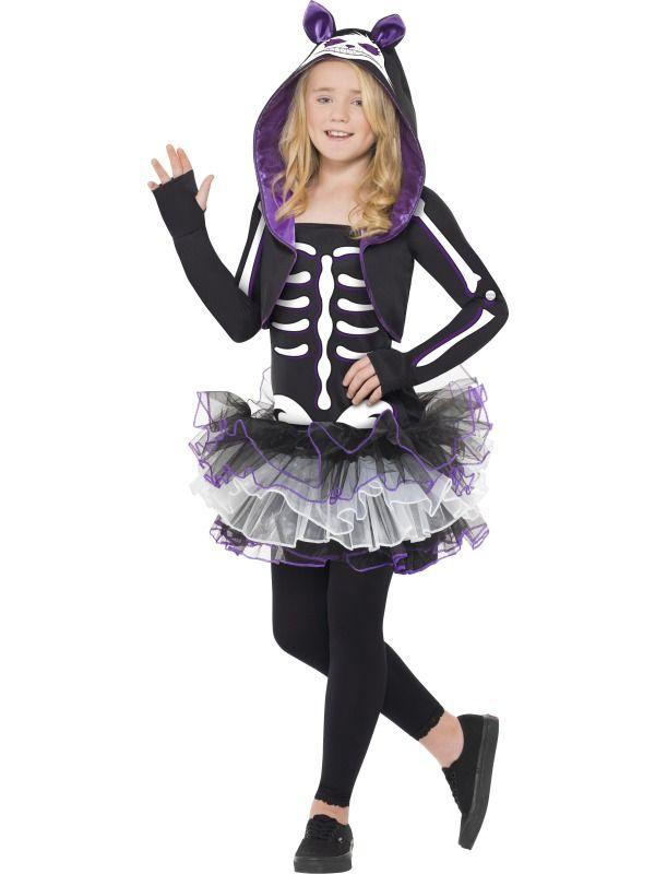 Halloween - Dětský kostým Kostlivka kočka