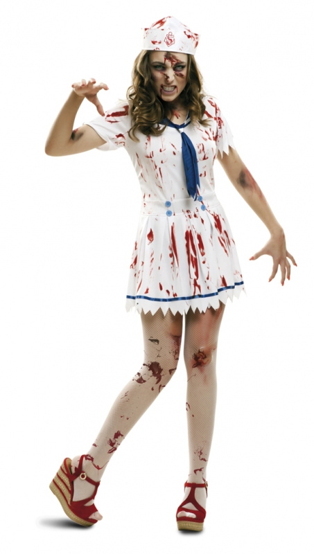 Halloween - Dámský kostým Zombie námořnice