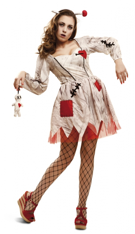 Halloween - Dámský kostým Voodoo panenka