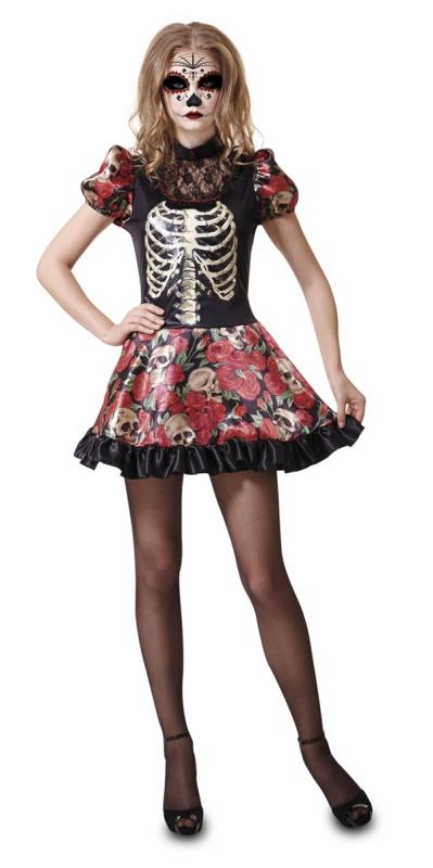 Halloween - Kostým Den mrtvých panenka