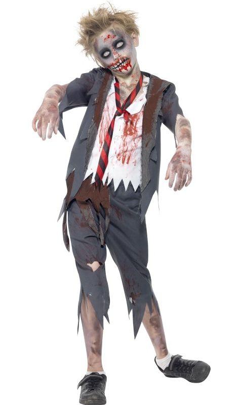 Halloween - Dětský kostým Zombie školák
