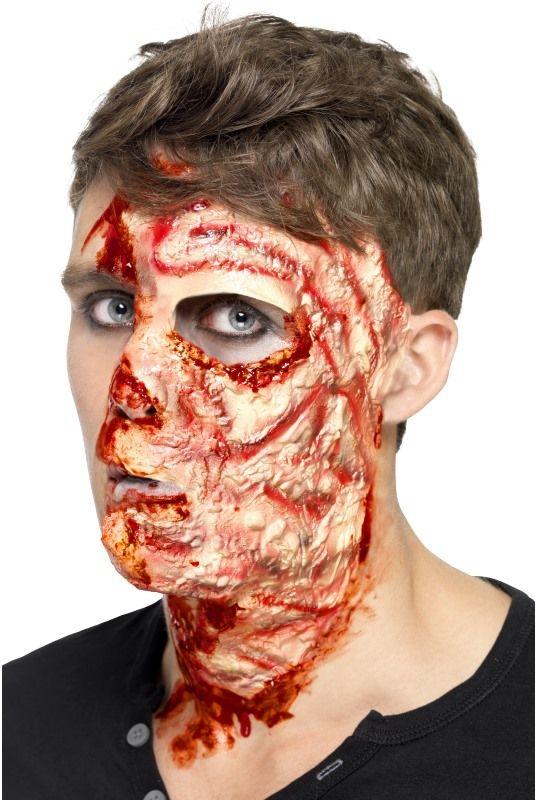Halloween - Zranění Spálený obličej