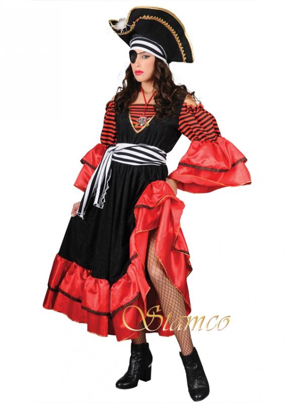 Piráti - Kostým Karibská pirátka