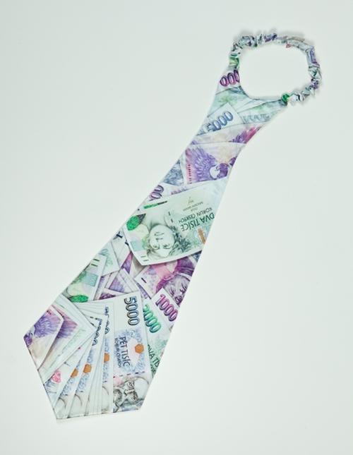 Karnevalové doplňky - Kravata Peníze