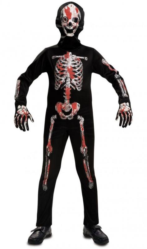 Halloween - Dětský kostým Krvavý kostlivec