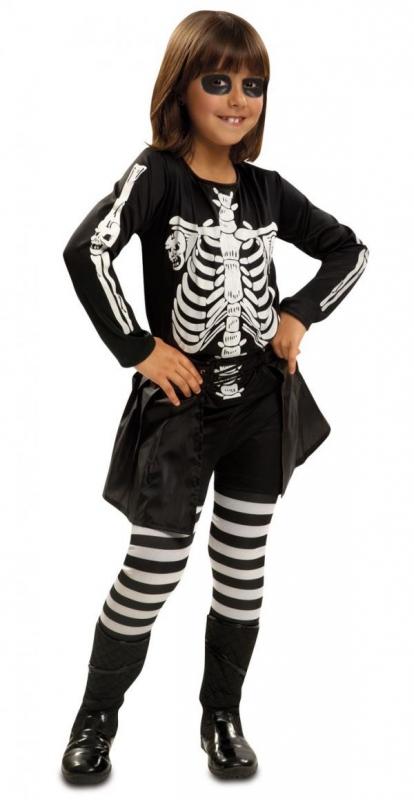 Halloween - Dětský kostým Kostlivka 3