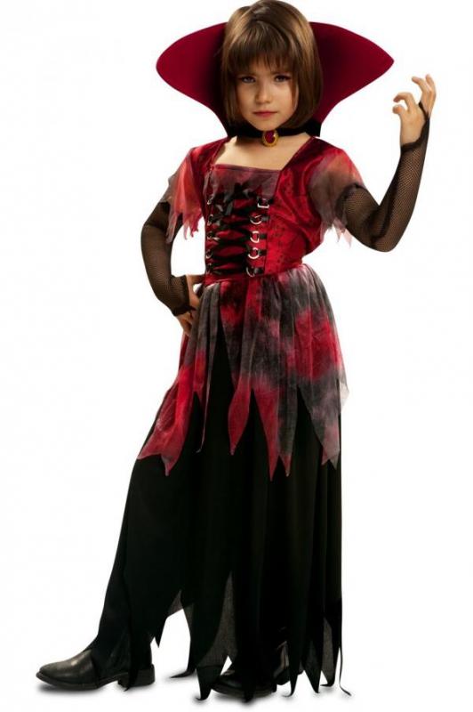 Halloween - Dětský kostým Gótská lady vamp