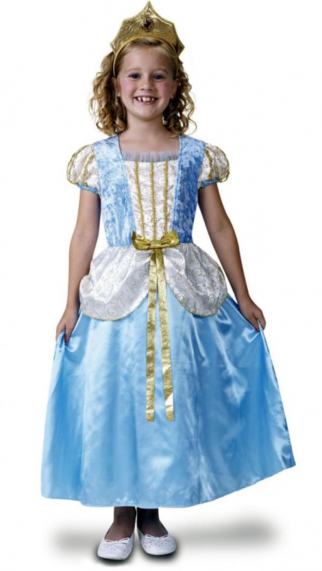 Princezny-Víly - Dětský kostým Princezna deluxe,modrá