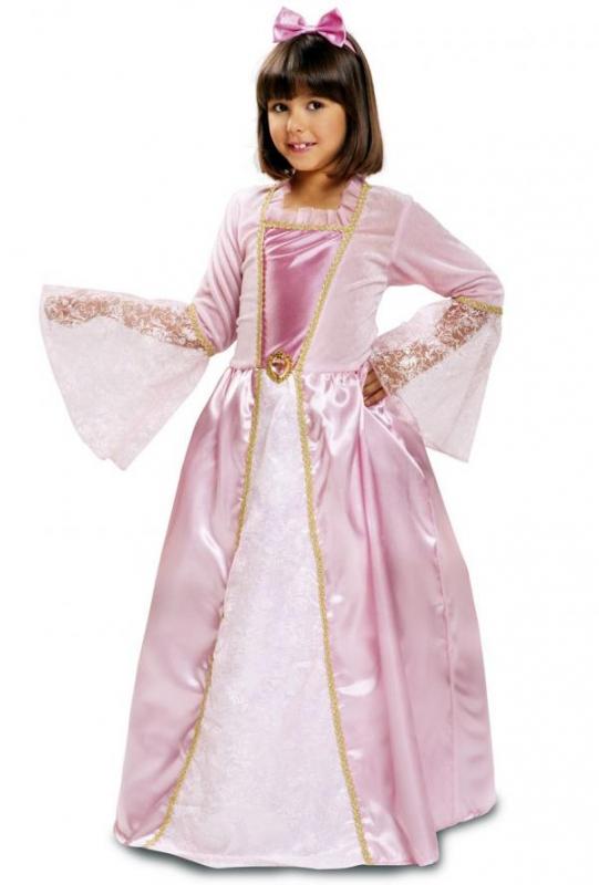 Princezny-Víly - Dětský kostým Princezna růžová