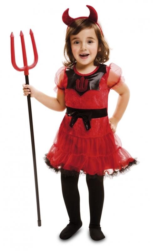 Mikuláš - Čert - Anděl - Dětský kostým Čertice s rohy