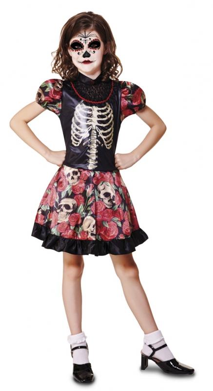 Halloween - Dětský kostým Kostlivka 1