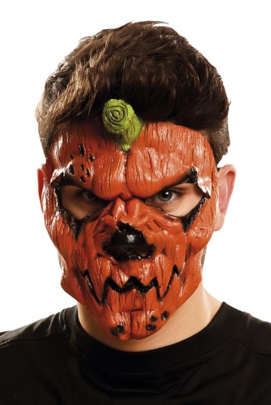Halloween - Maska obličejová Dýňová zombie