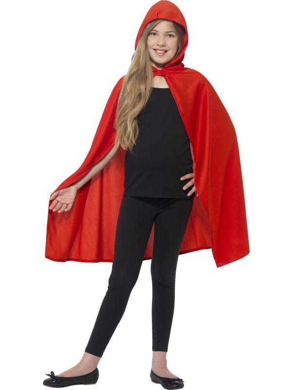 Halloween - Dětský plášť s kapucí červený