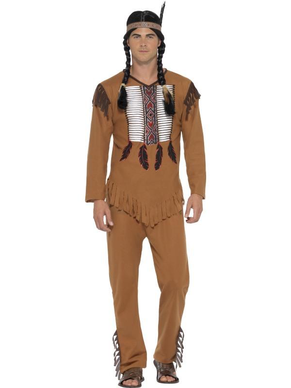 Indiáni - Kostým Indián s čelenkou