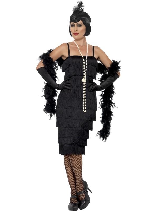 Kostým Flapper dlouhé šaty černé na charleston - KarnevalParty.cz 8230177170e