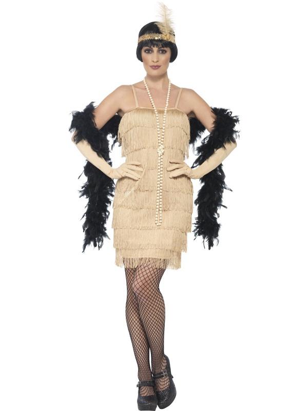 Dámské kostýmy - Kostým Charleston - zlaté šaty Charleston