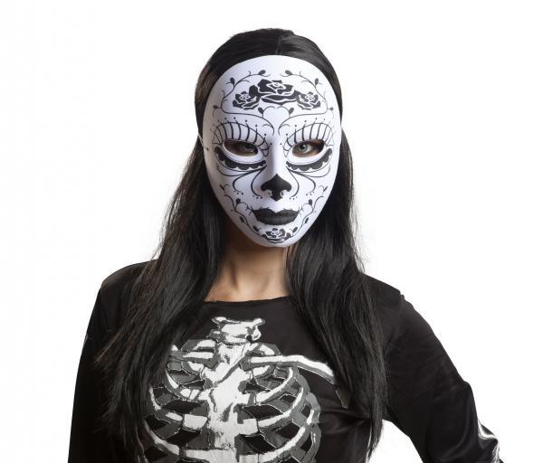 Halloween - Maska Katrina bílo černá