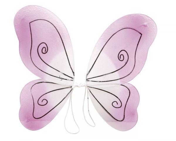 Karnevalové doplňky - Motýlí křídla růžová