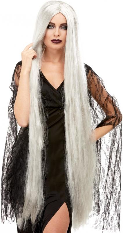 Halloween - Paruka Halloween šedá 120 cm