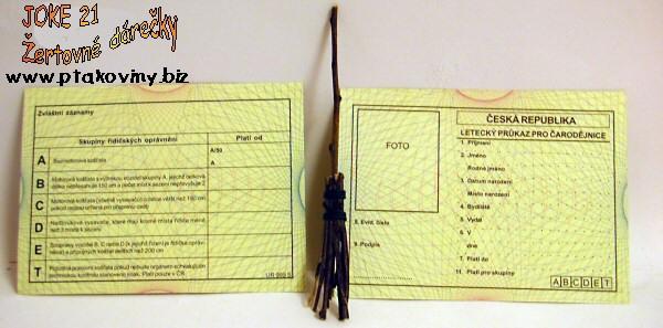Čarodějnice - Letecký průkaz pro čarodějnice