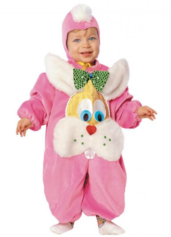 Zvířecí kostýmy - Dětský kostým Zajíček růžový