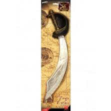 Pirátská šavle stříbrná 46 cm