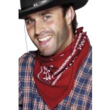 Šátek na krk western červený