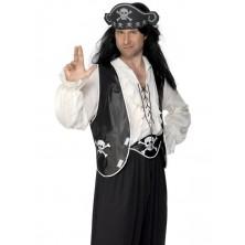 Pirátskáý kostým - sada vesta, čepice a opasek