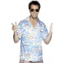 Havajský kostým - košile modrá