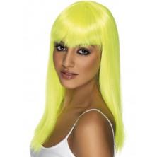 Paruka Glamourama neonově žlutá
