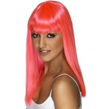 Paruka Glamourama neonově růžová