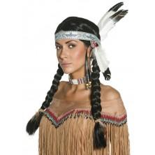 indiánská dámská paruka